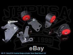 Innovative Steel Motor Mount Kit 88-91 Honda CIVIC Crx Ef B-series Hydro 75a