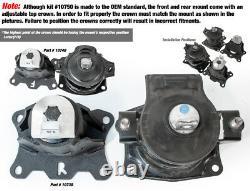 Innovative 03-07 Honda Accord V6 10-14 Acura Tsx V6 04-08 Tl Motor Mounts Kit