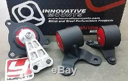 Innovative 90650 Motor Mounts Kit Acura RSX 02-06 Civic Si EP3 02-05 Steel 95A