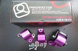Innovative Mounts B/d Billet Mount 2 Bolt Kit 96-00 CIVIC Custom Purple Anodized