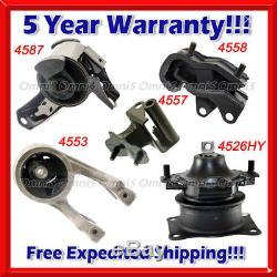 K299 Fit 2007 Honda Odyssey EX / LX 3.5L VTEC Engine Motor & Trans Mount Set 5PC
