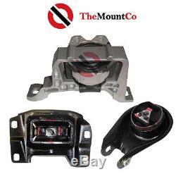 LH/RH & Rear Engine Mount Set (3 pcs) to suit Mazda3 04-09 2.3L