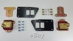 LS1 Engine Mount Adapter Plates with Poly Mounts- LSX LQ9 4 Position Black
