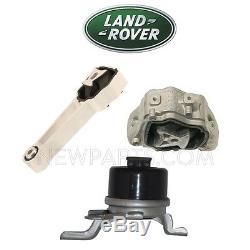 Land Rover LR2 Upper & Lower & Front Engine Torque Motor Rods Mounts Kit Genuine