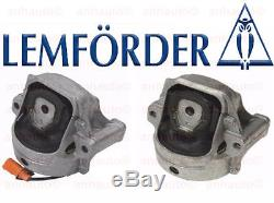 Lemforder Set of 2 Audi A4 A5 Left + Right Motor Mount's 4-Cylinder New