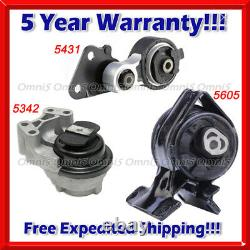 M587 For 2007-2010 Ford Edge 3.5L/ Lincoln MKX 3.5L, Motor & Trans Mount Set