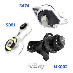 M947 Motor & Trans. Mount Set Fits Ford Fusion/ Mercury Milan 2.3L 3.0L 06-09