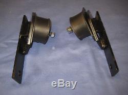 MG PAIR MGB V8 METAL ENGINE MOUNTING BRACKETS & RUBBERS v8 conversion M1B