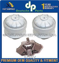 Mercedes Benz W201 W124 Engine Motor Transmission Mount Mounts 1242401917 Set 3
