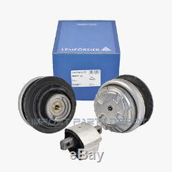 Mercedes Engine Motor Mount + Transmission Mount Lemforder OEM 2200617 (3pcs)