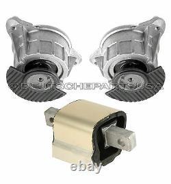 Mercedes W204 C63 Amg Hydraulic Engine Motor Transmission Mount Mounts Set 3pc