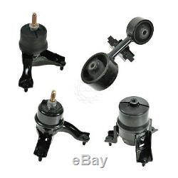 Motor Engine & Transmission Mount Set of 4 for Toyota Camry Solara 4 Cyl 2.4L