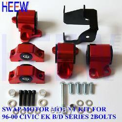 Motor Mount Engine Torque Kit Bracket Ek For 96-00 Honda CIVIC D16 B16 B18 2 Bol