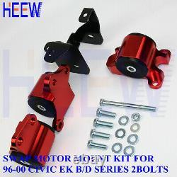 Motor Mounts Engine B-Series For Honda Civic 96-00 EK D16 B16 B18 Kit 2Bolts RED