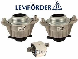 NEW For Mercedes W204 W212 C300 C350 Trans Mount & Left & Right Engine Mounts