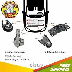 New Engine Motor & Trans Mount Kit 4 PCS Fits 04-09 Mazda 3 2.0L L4 DOHC 16v