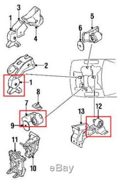 OEM Quality for 1991-1999 Mitsubishi 3000GT 2WD Engine Motor Mount Set 3PCS