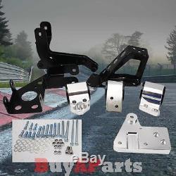 Polished Billet Motor Mount Kit For Honda Civic 92-95 EG K20 Engine /70A Bushing