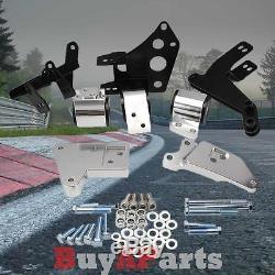 Polished Engine Motor Mount Swap Kit For Civic 96-00 K-Series K20 Engine EK