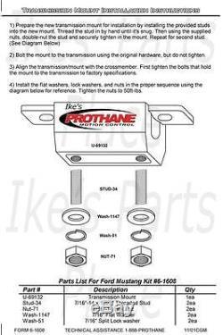 Prothane 7-1901 Motor & Trans Mount Kit for 58-82 Corvette-Chevelle-Nova-GMC/C10