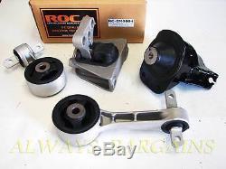ROCAR Engine Mount Motor Transmission Mount Bushing Honda Civic 06-11 1.8L MT 4p