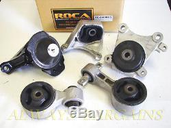 ROCAR Engine Mount Motor Transmission Mount Bushing Honda Civic SI 06-11 MT 5pcs
