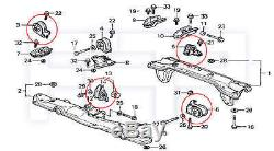 ROCA Civic CRX D15B1 D15B2 D16A6 MT Transmission Tranny + Engine Motor Mount