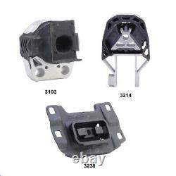 Rear Engine Mount, Front Engine Mount & Trans Mount Set 3PCS for Ford Focus 2.0L
