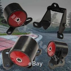 Red D-B Series B16 B18 Engine Steel Motor Mounts Swap Kit For Civic 1996-2000 EK