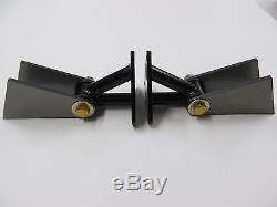SBC and BBC Chevy weld-in Engine Motor Mounts, Pair, USA made, TIG welded