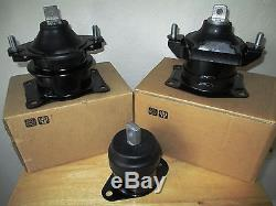 SET OF 3 ENGINE MOUNTS - FITS 2004-2008 ACURA TL (3.2L, V6, 3210cc, A/T)