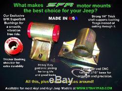 SFR Trail Proof Jeep Motor Mounts Wrangler, Cherokee, 4.0L, XJ, YJ, TJ, LJ, MJ
