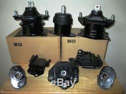 Set Of 8 Motor, Transmission & Suspension Mounts - 04,05,06 Acura Tl, 3.2l, A/t