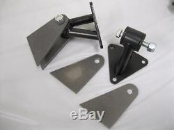 Small & Big Block Chevy Weld-in Street Rod Engine Motor Mounts Mounting Kit BLK