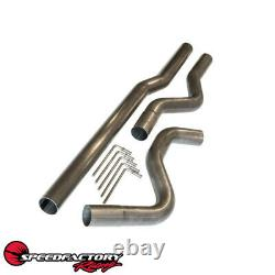 SpeedFactory Racing 3 Stainless Steel Mandrel Bent Exhaust Piping Kit