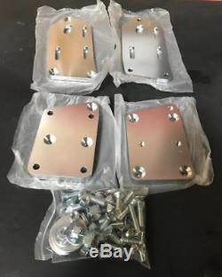 TSP Adjustable Engine Swap Mounts LS Swap Fox Body Mustang Adapter Plate Clear