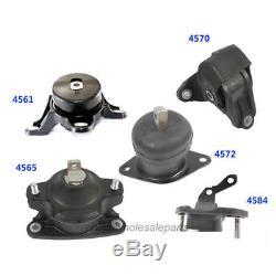 Trans & Motor Mount Set 5PCS AT For 08-13 Acura TSX / Honda Accord 2.4L M286