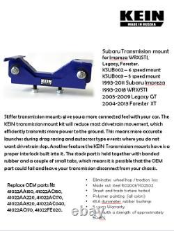 Transmission & Engine Mounts + Pitch Stop for Subaru Forester, Impreza WRX, STI