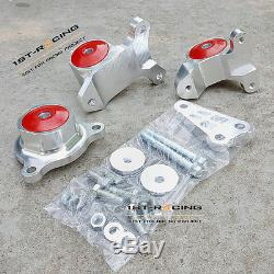 Turbo Engine Mounts FOR Honda Civic Si 02-06 Acura RSX K20 EP3 Replacement Red