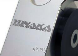 Yonaka Honda Civic 96-00 Motor Mounts ALUMINUM EK D-B Series B16 B18 D16